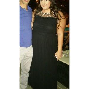 Forever 21 embellished black maxi dress
